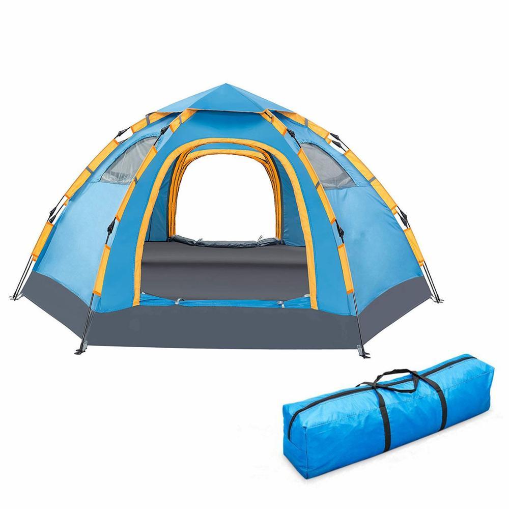 Автоматическая палатка 6-и местная + Кемпинг фонарь в подарок