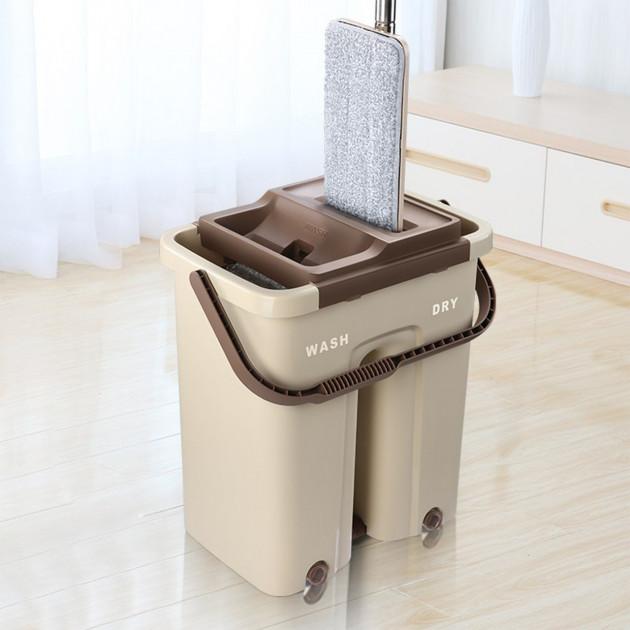 Швабра с ведром с автоматическим отжимом Easy Mop