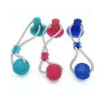 Игрушка для собак Мяч на веревке с присоской