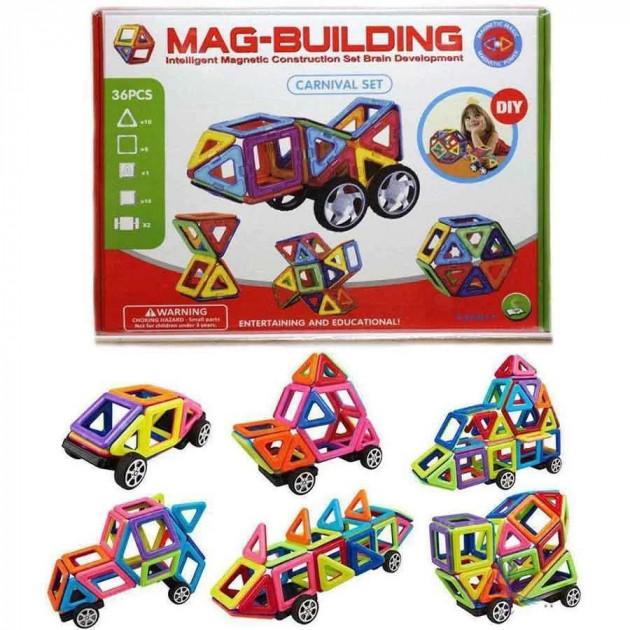 Магнитный конструктор автомобили 28 деталей