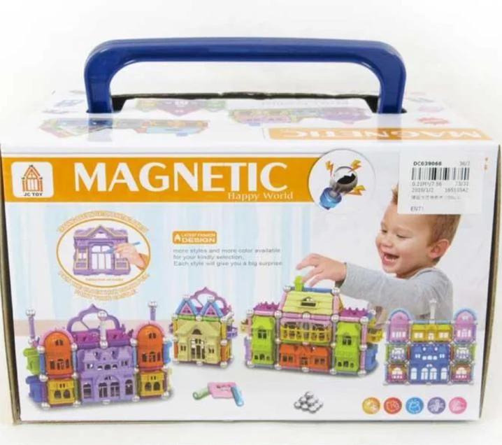 Магнитный конструктор замок 150 деталей