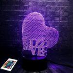 3D-светильник Сердце