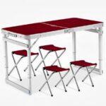 Складной столдля Пикника + 4 стула в подарок