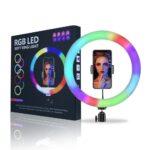 30 см RGB Кольцевая LED светодиодная селфи лампа + штатив в подарок